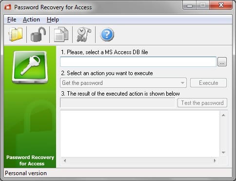 Password Recovery for Access screen shot
